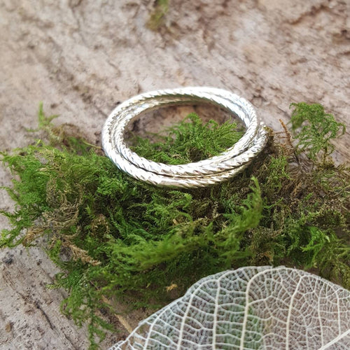 Sterling Silver triple Entwined Ring - Anna Ancell Jewellery