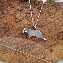 Sterling silver badger pendant - Anna Ancell Jewellery