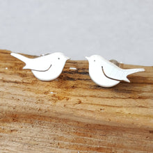 Handmade 925 Sterling silver Robin/bird stud earrings - bird lover gift - Anna Ancell Jewellery