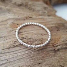 Dainty Sterling Silver beaded wire ring - Anna Ancell Jewellery