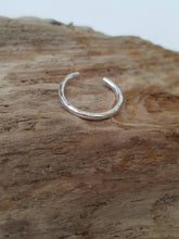 Sterling silver Toe ring (one) - Plain, dimple hammered or line hammered or frosted - Anna Ancell Jewellery