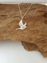 Sterling silver dove with scroll detail - Anna Ancell Jewellery