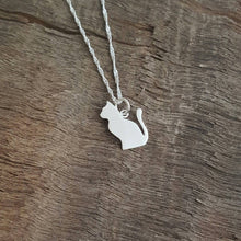Sterling silver cat pendant - Anna Ancell Jewellery