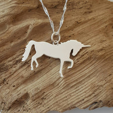 Sterling silver unicorn pendant - Anna Ancell Jewellery
