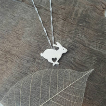 Sterling silver Rabbit pendant - Anna Ancell Jewellery