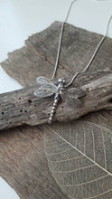 Fine silver drangonfly pendant - Anna Ancell Jewellery
