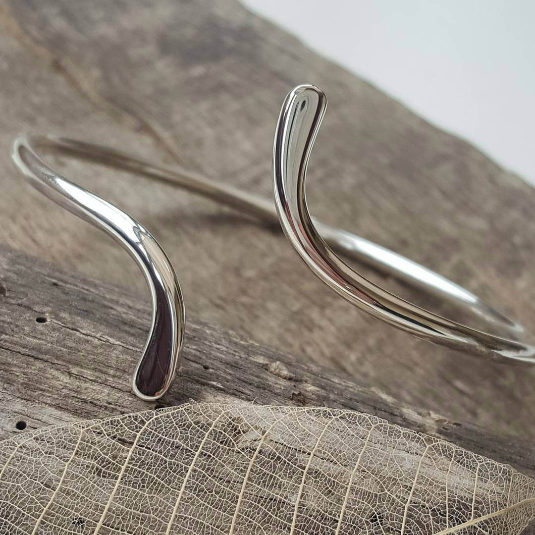 Sterling silver open bangle - Anna Ancell Jewellery