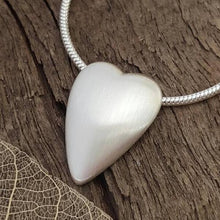 3D Elongated Heart Pendant - Anna Ancell Jewellery