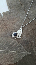 Sterling silver Butterfly with Blue Goldstone - Anna Ancell Jewellery