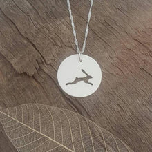 Sterling silver Hare pendant - Anna Ancell Jewellery