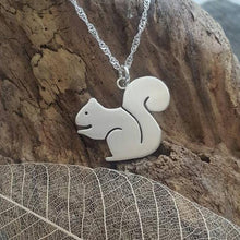Sterling silver squirrel pendant - Anna Ancell Jewellery