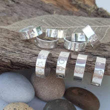 Chunky Sterling silver Toe ring (one) with pattern - Anna Ancell Jewellery
