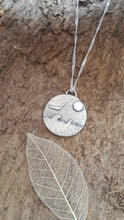 Sterling seascape and gull pendant - Anna Ancell Jewellery