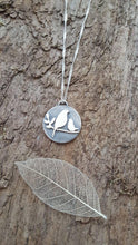 Sterling silver mother and fledgling bird pendant - Anna Ancell Jewellery