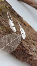 Sterling silver feather earrings - Anna Ancell Jewellery