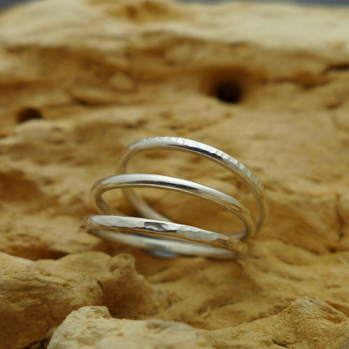 Dainty Sterling Silver Stacking Rings - Anna Ancell Jewellery