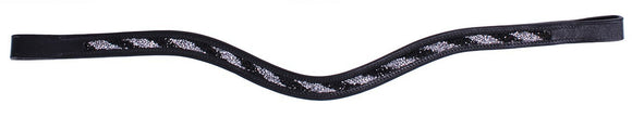 QHP ''Black Silver Lizzie'' Browband
