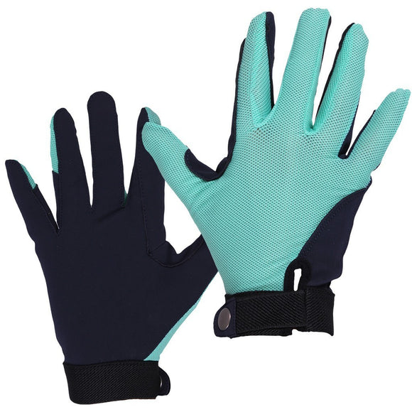 QHP ''Turquoise Mesh'' Riding Gloves