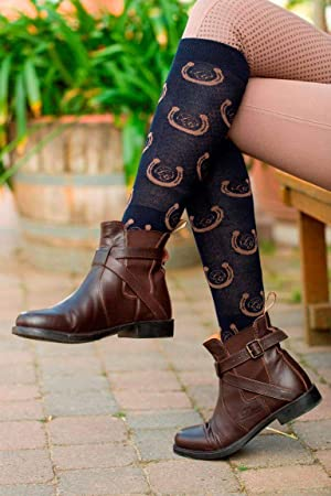 HKM ''Brown Golden Gate'' Riding Socks