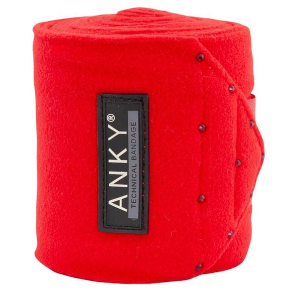 ANKY ''Crimson Red'' Fleece Bandages AW19