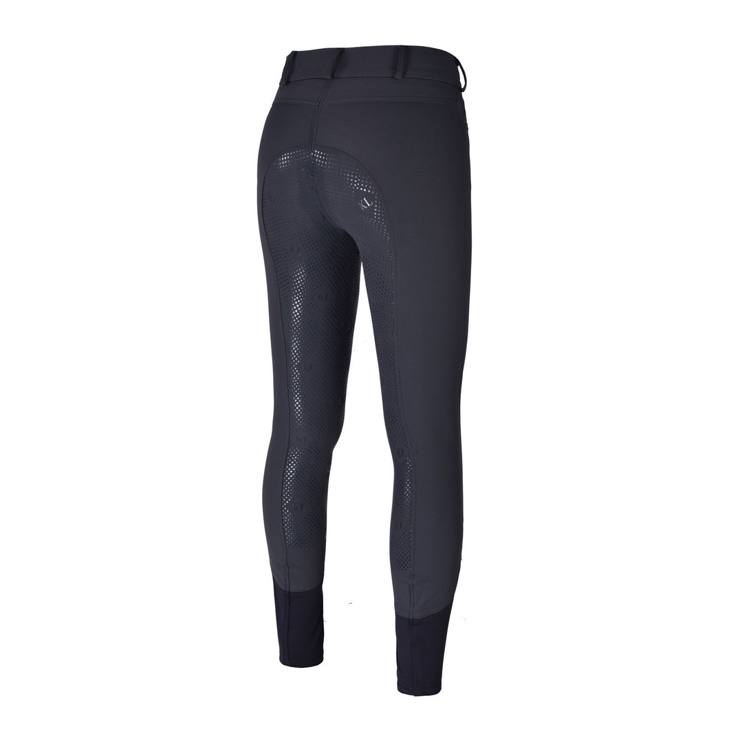 Kingsland ''Grey Pinstripe Classic Kadi'' Riding Breeches with Full Silicone Seat