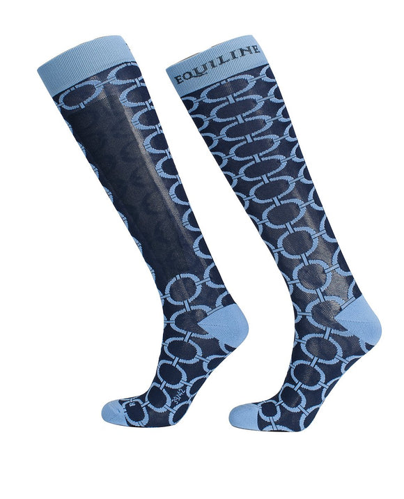 Equiline ''Blue Boulanger'' Riding Socks