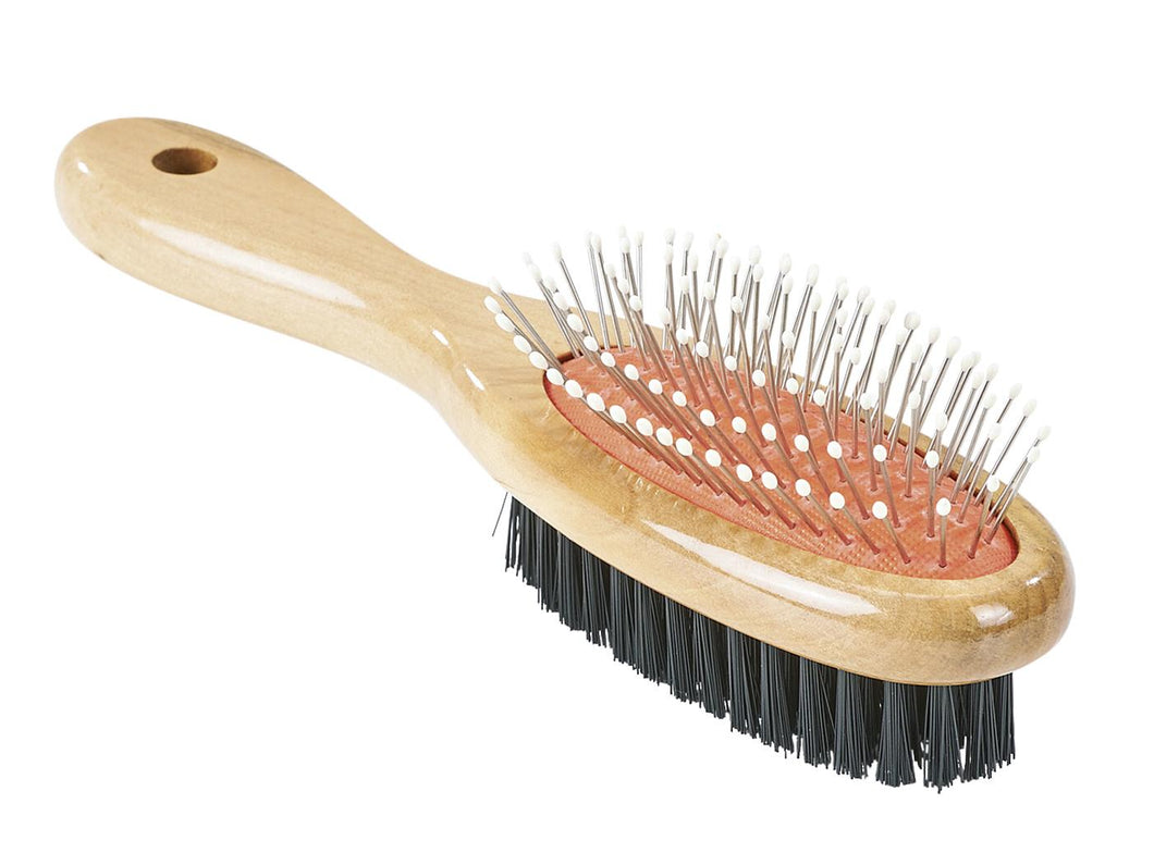 Busse ''Airlastic Wooden'' Double-Sided Mane & Tail Brush