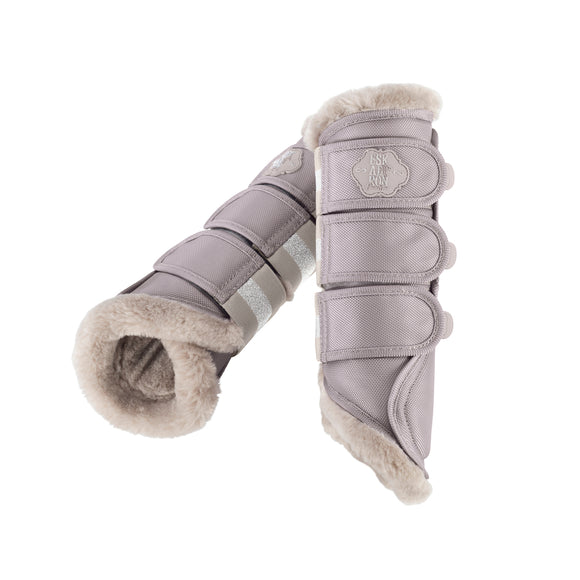 Eskadron ''Soft Grey Classic Sport Faux Fur'' Brushing Boots