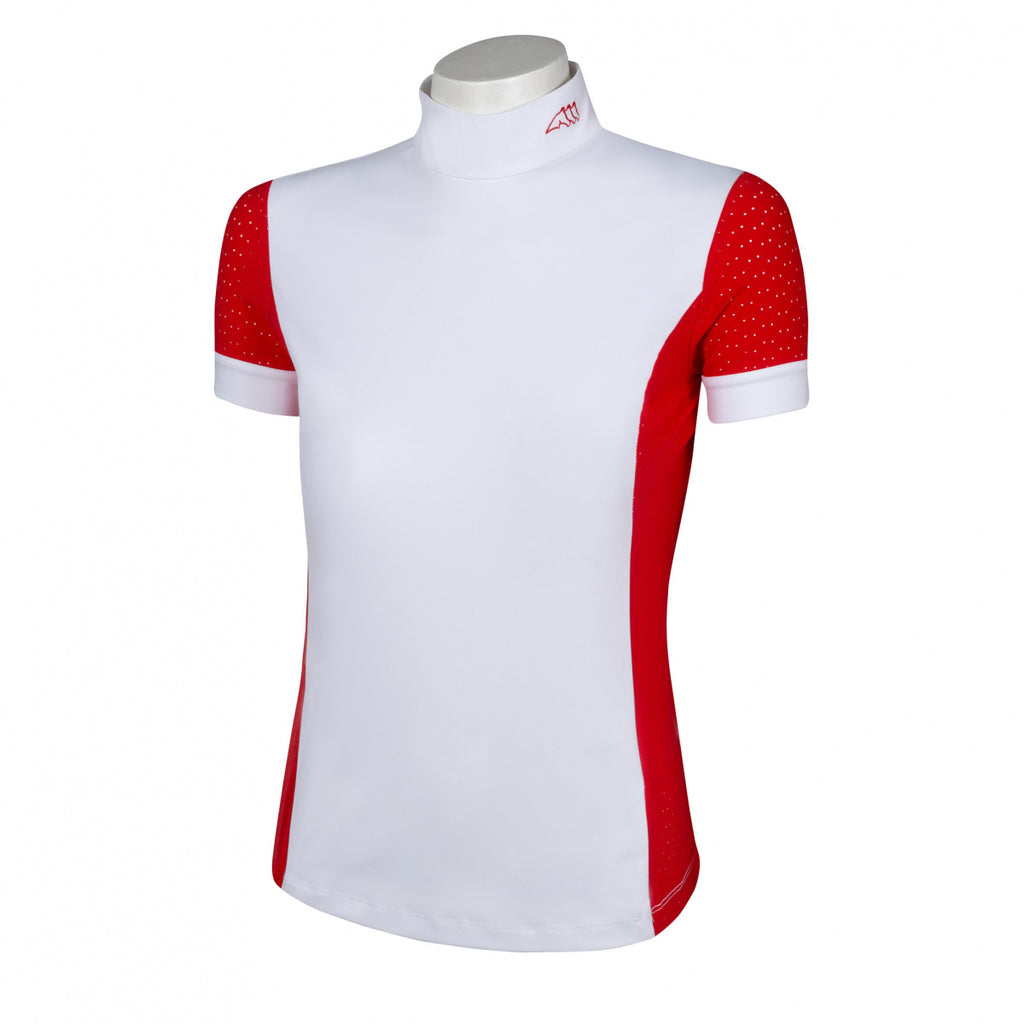 Equiline ''Fire Red Heather'' Competition Shirt
