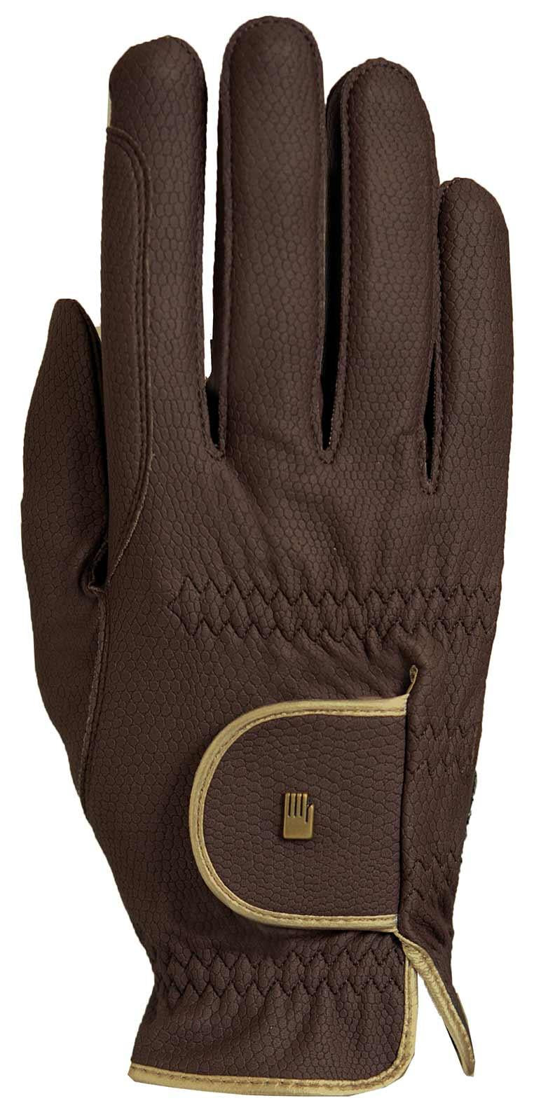 Roeckl ''Brown Gold Lona'' Riding Gloves
