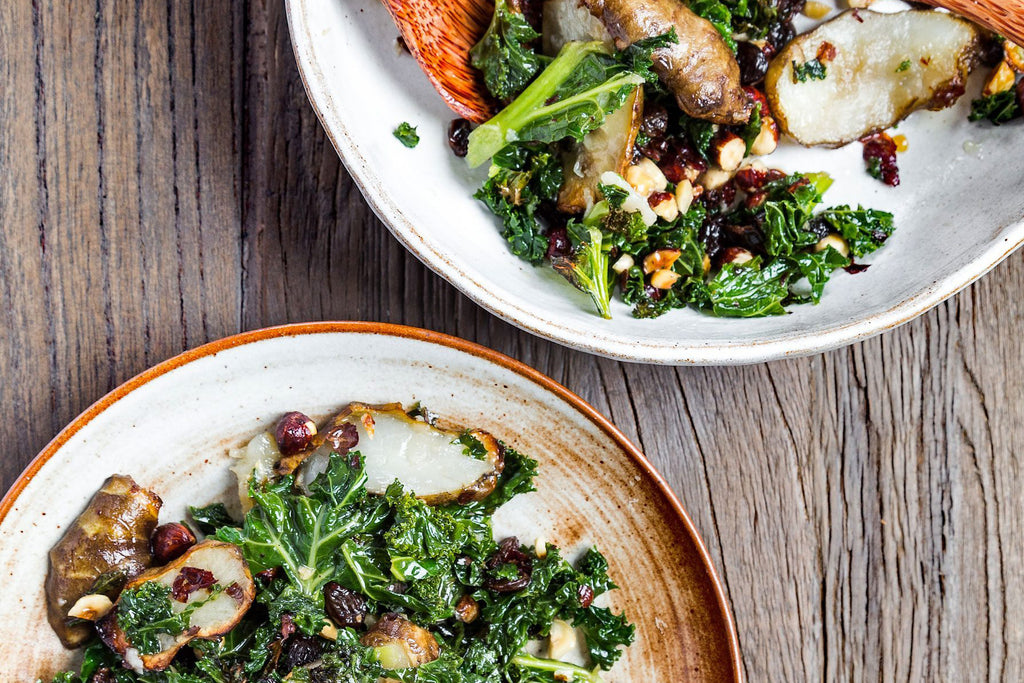 https://deliciouslyella.com/2018/01/16/roasted-jerusalem-artichoke-hazelnut-kale-salad/