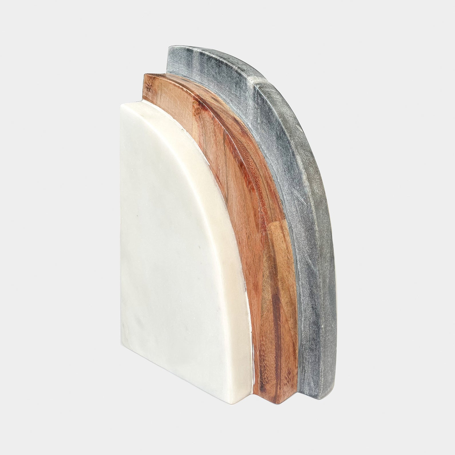 DEMI MARBLE WOOD BOOKEND