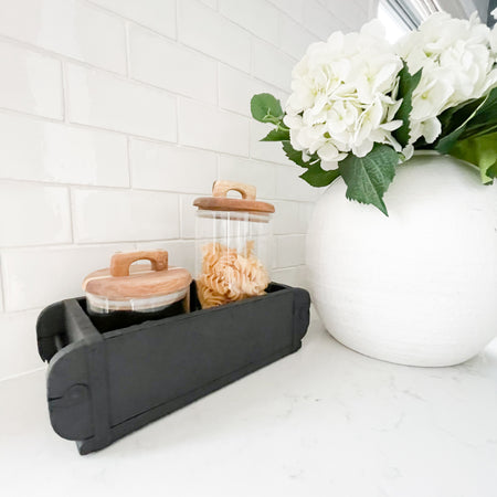 TARA BLACK WOODEN BOX TRAY
