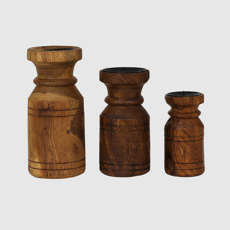 MARLEE WOOD CANDLEHOLDERS - HUNTER & CO.