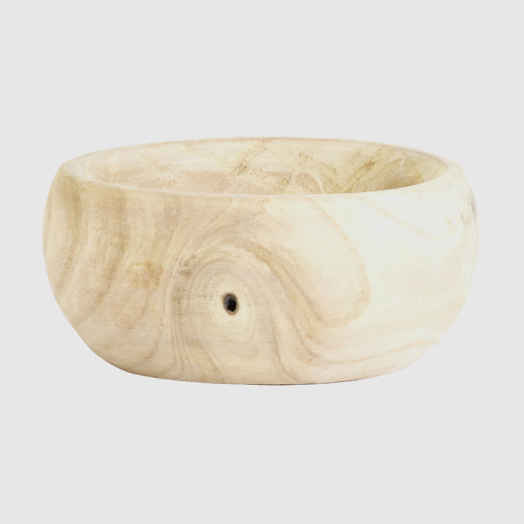 NAILA NATURAL WOOD BOWL - HUNTER & CO.