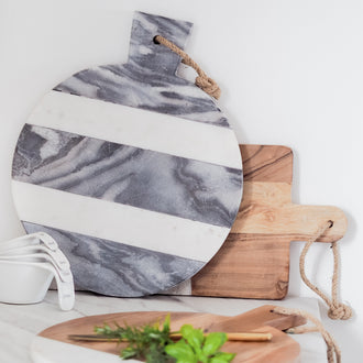 BROOK GREY MARBLE STRIPED BOARD
