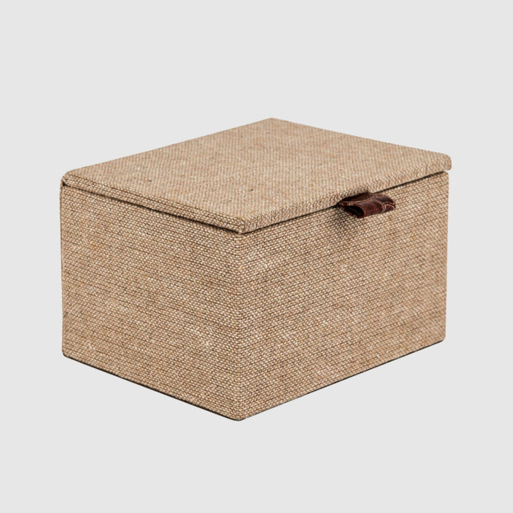 SAND HESSIAN BOX - HUNTER & CO.
