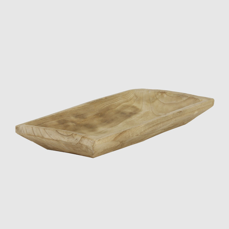 SANDHURST NATURAL WOOD MEDIUM TRAY - HUNTER & CO.