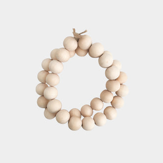 WHITE WASHED NATURAL WOODEN BEADS