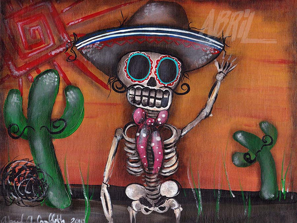 "Heat Wave Day of the Dead - 8x10"" Signed - Print"