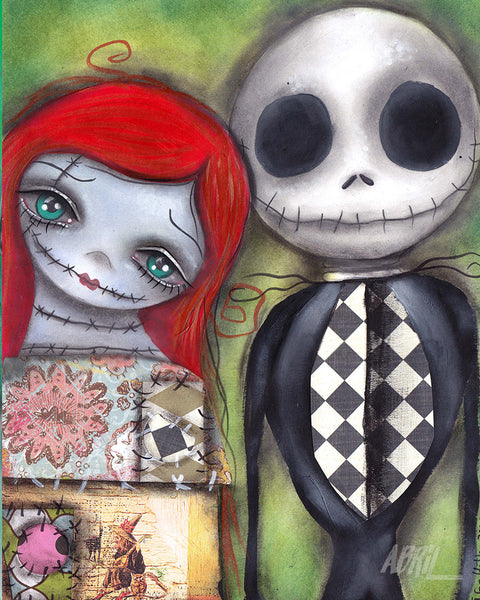 "Jack and Sally  - 8x10"" Signed - Print"