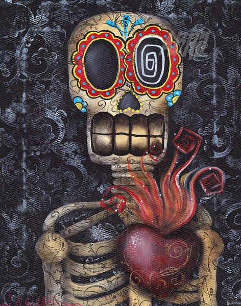 "Sacred Heart Day of the Dead - 8x10"" Signed - Print"