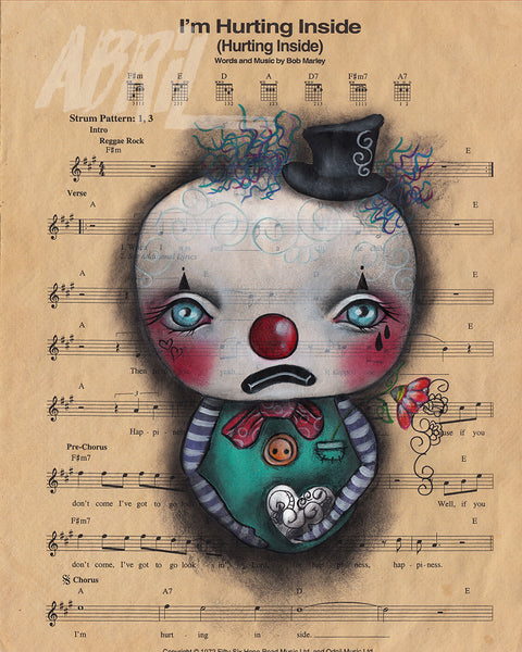 "I'm Hurting Inside Clown - 8x10"" Signed Print"