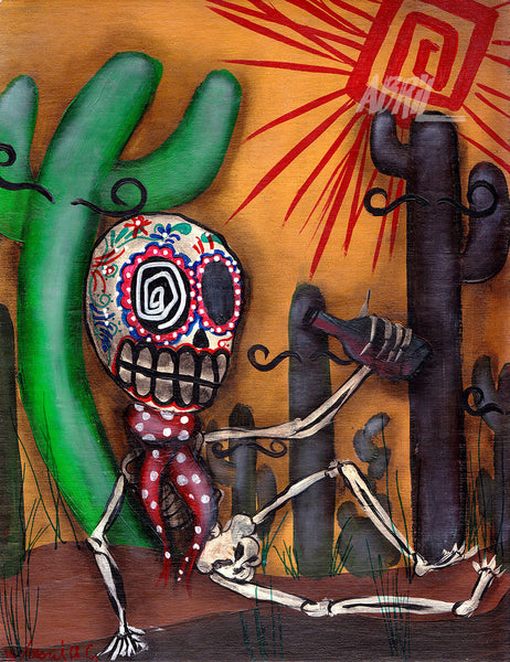 "Siesta Day of the Dead - 8x10"" Signed - Print"