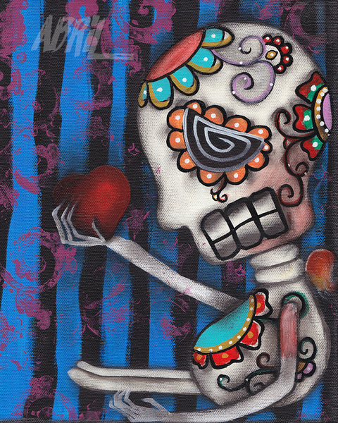 "Your Heart Dead Day of the Dead - 8x10"" Signed - Print"