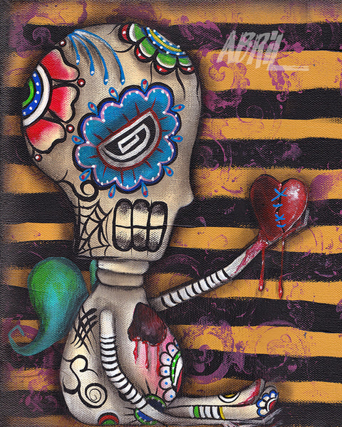 "My Heart Dead Day of the Dead - 8x10"" Signed - Print"