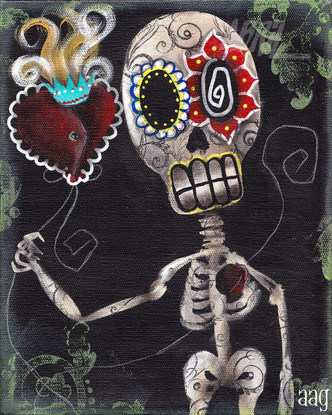 "My Sacred Heart Day of the Dead - 8x10"" Signed - Print"