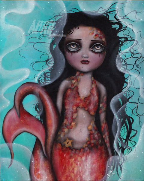 "Sweet  Mermaid - 8x10"" Signed Print"