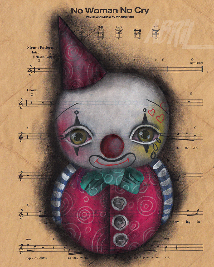 "No Cry Clown 8x10"" Signed Print"