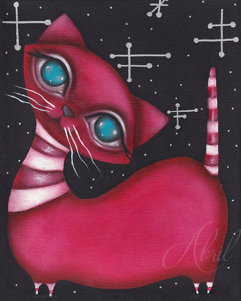 "Red MCM Kitty  - 8x10"" Signed Print"